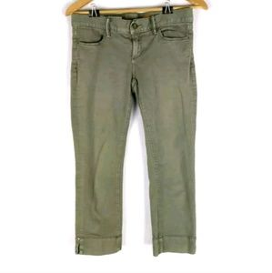 Pilcro & the Letterpress olive crop chino pants